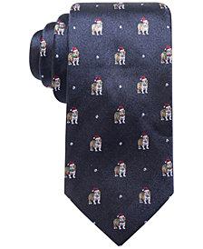 Club Room Men's Bulldog Santa Hat Silk Tie, Created for Macy's