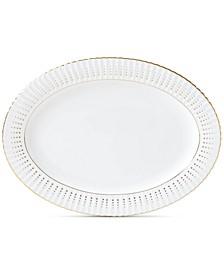 Golden Waterfall Oval Platter