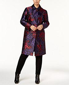 Anne Klein Plus Size Printed Long Jacket