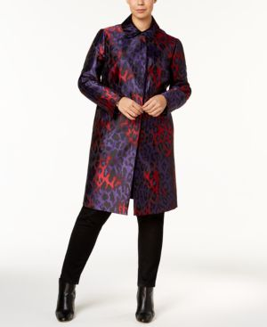 Image of Anne Klein Plus Size Printed Long Jacket