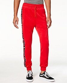 American Stitch Men's Fight Power Velour Track Pants
