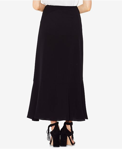 20192d040 Vince Camuto Textured Faux-Wrap Ruffled Long Skirt & Reviews ...
