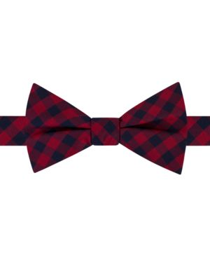 Tommy Hilfiger Men's Grid To-Tie Silk Bow Tie thumbnail