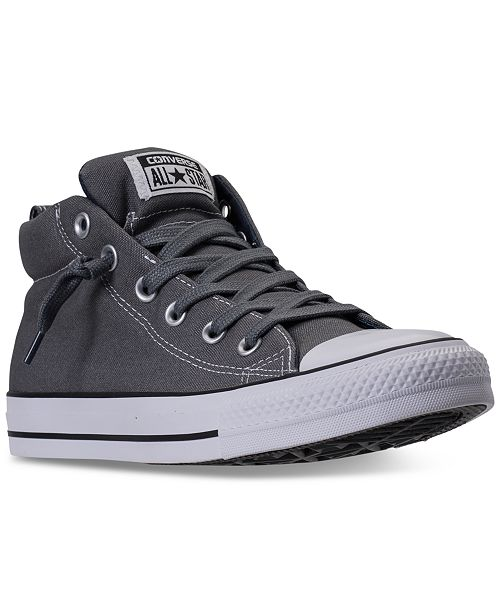 357de4f5 ... Converse Men's Chuck Taylor All Star Street Mid Casual Sneakers from  Finish ...