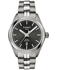 Women's Swiss T-Classic PR 100 Gray Titanium Bracelet Watch 33mm