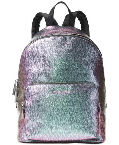 Michael Kors Wythe Metallic Large Backpack