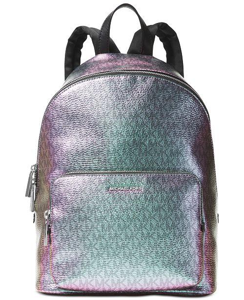 Michael Kors Wythe Metallic Large Backpack & Reviews ...