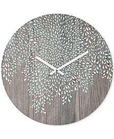 Iveta Abolina Coastal Raindrops Round Clock