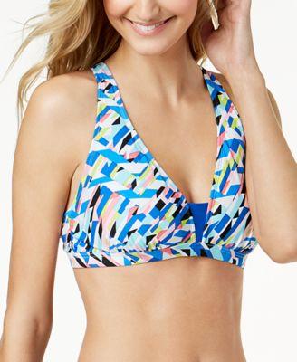Crossed Signals Strappy-Back Bralette Bikini Top
