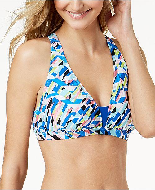 GO by Gossip Crossed Signals Strappy-Back Bralette Bikini Top