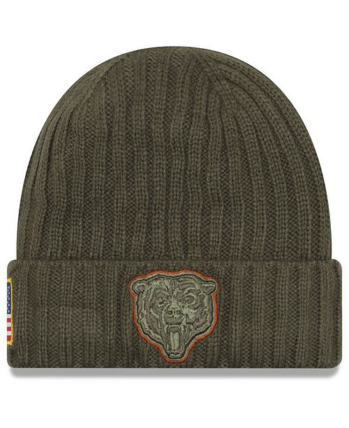 fda01d116 New Era Chicago Bears Salute To Service Cuff Knit Hat - Sports Fan ...