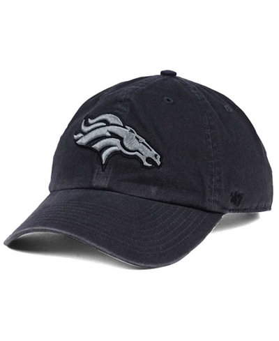 '47 Brand Denver Broncos Dark Charcoal CLEAN UP Cap