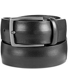 Original Penguin Men's Convex Leather Belt