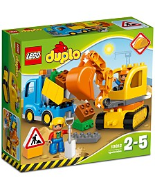 LEGO® DUPLO® 26-Pc. Town Truck & Tracked Excavator