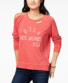 Lucky Brand Ripped Graphic Sweatshirt
