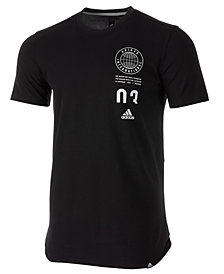 adidas Men's 36 Hours ClimaLite® Stacked-Logo T-Shirt