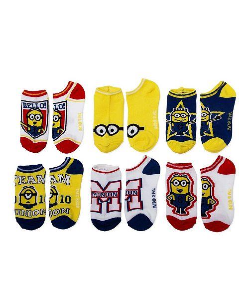 Despicable Me No-Show Socks, 6-Pack, Little Boys & Big Boys