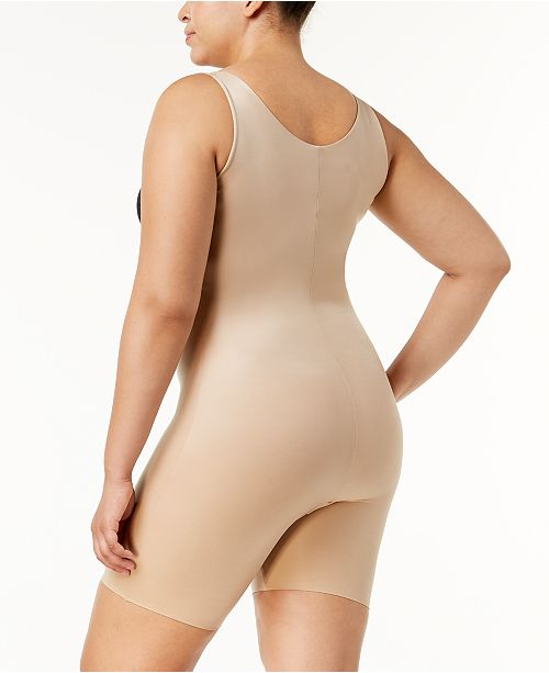 f1ed566fe SPANX Plus Size Power Conceal-Her Open-Bust Mid-Thigh Bodysuit 10133P ...
