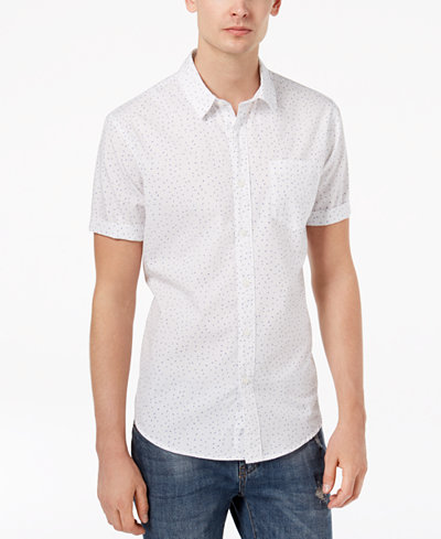 American Rag Men's Speckle Print Shirt, Created for Macy's