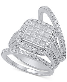Diamond 3-Pc. Bridal Set (2-1/2 ct. t.w.) in 14k White Gold