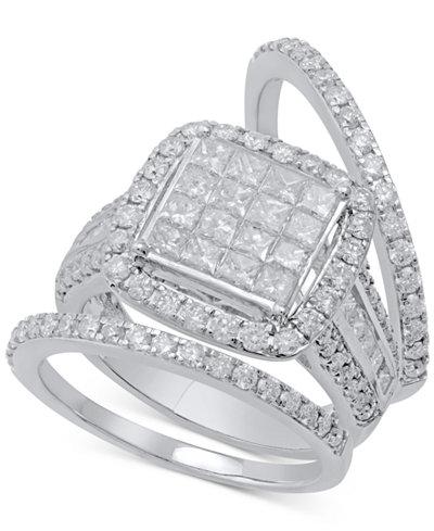 Diamond 3-Pc. Bridal Set (2-1/2 ct. t.w.) in 14k White Gold