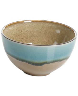 Elite Reactive Glaze Amber Fruit Bowl, Created for Macy's