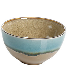 Gibson Elite Reactive Glaze Amber Fruit Bowl, Created for Macy's