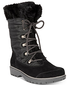 Baretraps Satin Lace-Up Cold-Weather Boots