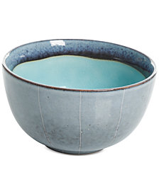 Gibson Elite Reactive Glaze Blue Fruit Bowl, Created for Macy's