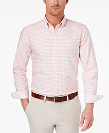 Brooks Brothers Men's Check-Print Oxford Shirt