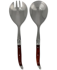 French Home Laguiole 2-Pc. Connoisseur Rosewood Salad Servers