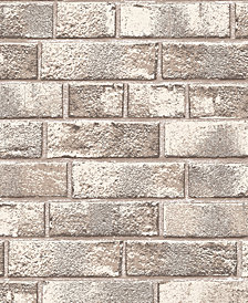 Tempaper Textured Brick Self-Adhesive Wallpaper