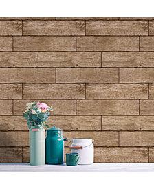 Tempaper Textured Wood Planks Self-Adhesive Wallpaper