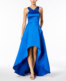 Adrianna Papell Embellished High-Low Gown