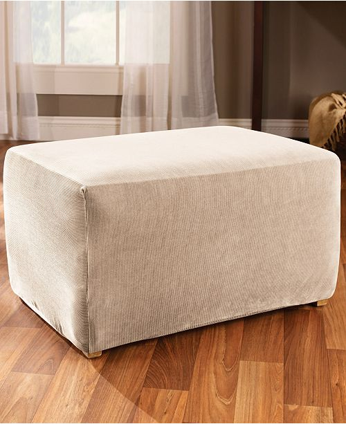 stretch garden fit ottoman home product today sure brown shipping slipcover free