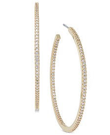 kate spade new york Pavé Large Hoop Earrings
