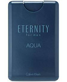 Calvin Klein ETERNITY AQUA for men Eau de Toilette Pocket Spray, 0.67 oz.