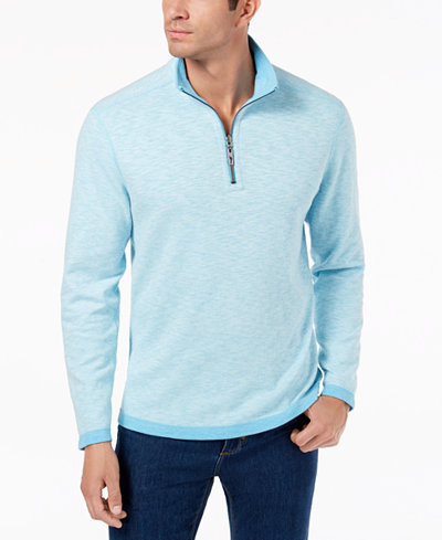 Tommy Bahama Men's Sea Glass Quarter-Zip Sweater