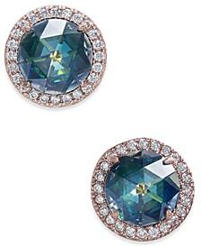 Pavé & Stone Stud Earrings
