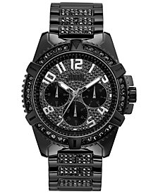 GUESS Men's Black Stainless Steel Bracelet Watch 48mm