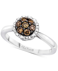 Le Vian Chocolatier® Diamond Cluster Ring (3/8 ct. t.w.) in 14k White Gold