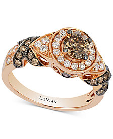 Le Vian Chocolatier® Diamond Ring (1-1/5 ct. t.w.) in 14k Rose Gold