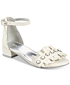 Kenneth Cole Reaction Julie Embellished Ruffle Sandals, Little Girls & Big Girls