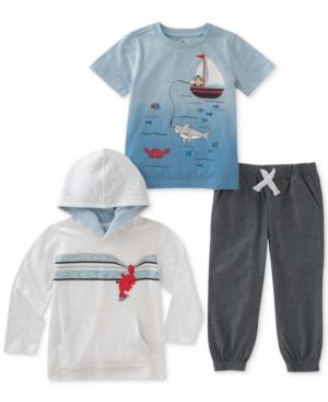 Kids Headquarters 3Pc GraphicPrint TShirt Hoodie  Pants Set Toddler Boys (2T5T)
