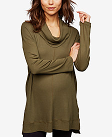 Splendid Maternity Jersey Cowl-Neck Top