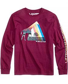 LRG Men's Giraffe Silo Logo-Print T-Shirt