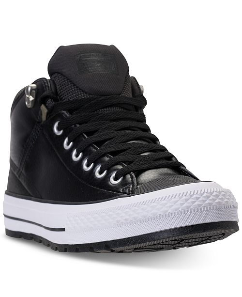 2ed2406b268e ... Converse Men s Chuck Taylor All Star Street Mid Leather Casual  Sneakerboots from Finish ...