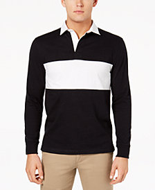 Club Room Men's Pieced Colorblocked Rugby Polo, Created for Macy's