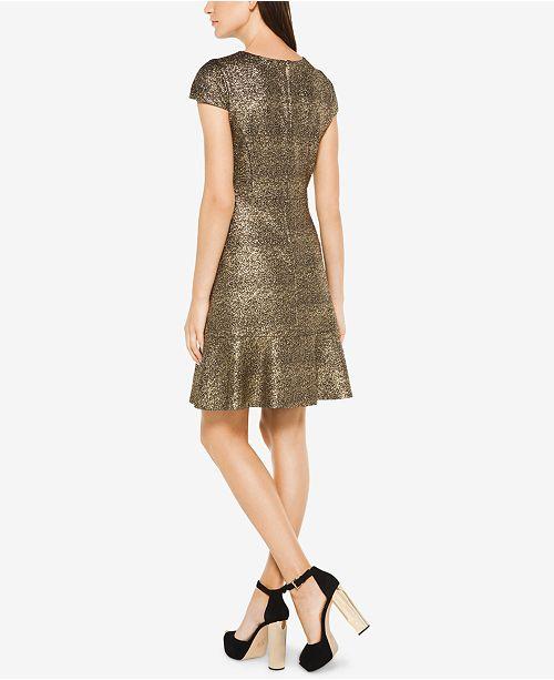 82e870e6ca5 Michael Kors Metallic-Knit A-Line Dress   Reviews - Dresses - Women ...
