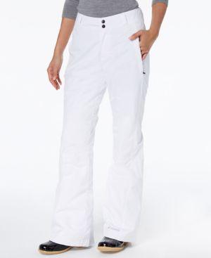 COLUMBIA Modern Mountain Internal-Gaiter Snow Pants in White